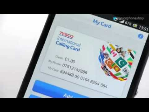 how to use the tesco international calling card app youtube. Black Bedroom Furniture Sets. Home Design Ideas