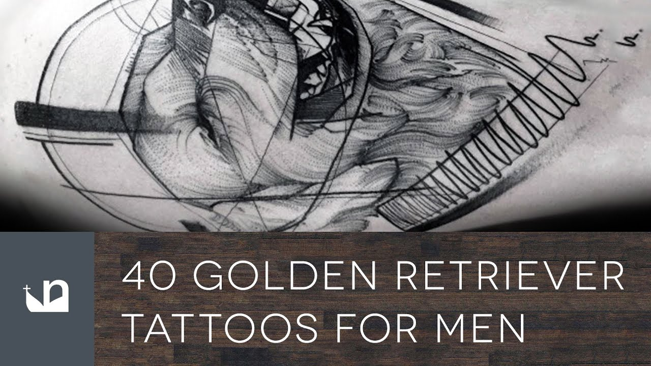 40 Golden Retriever Tattoo Designs For Men – Dog Ink Ideas