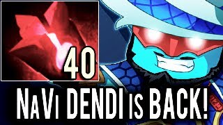 NaVi Dendi Storm Spirit is BACK! What a Player ! 7.06 META Pro MMR Dota 2