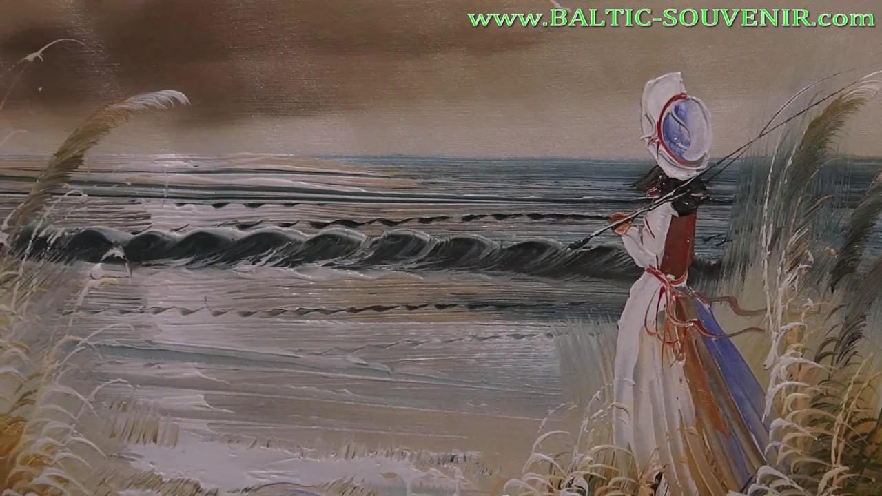 ДЕВУШКА У МОРЯ - 60x90см, картина маслом на холсте_Художественная .