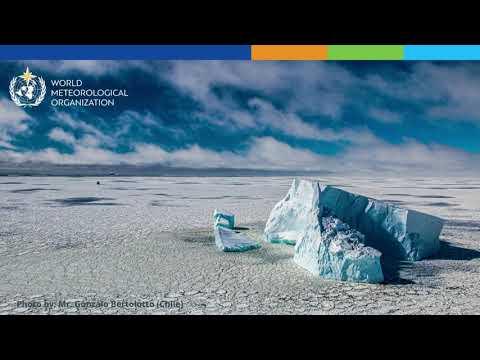 Temperature record for Antarctic continent - Animation - English