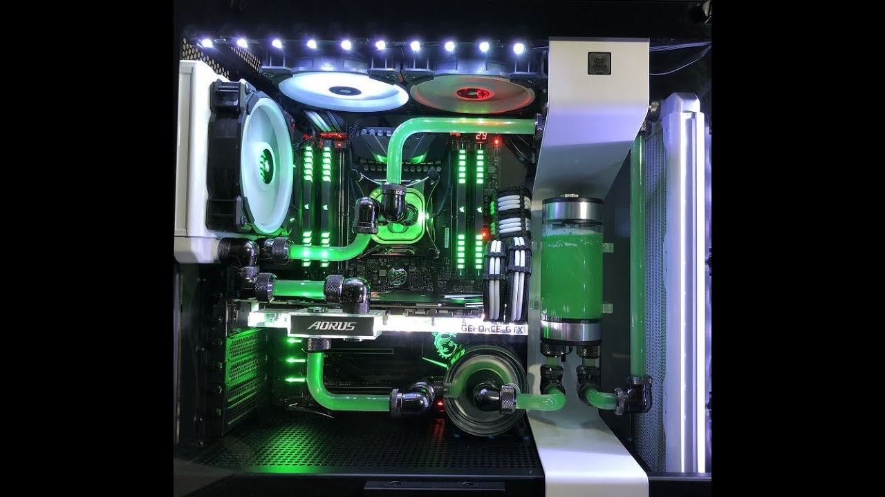 Liquid Cooled Pc >> $5800 i9 7900x Watercooling PC Build - GTX 1080 TI - NZXT ...