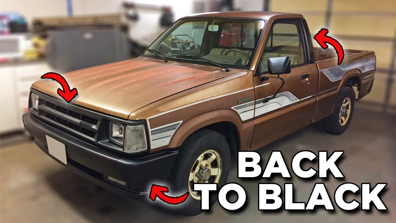 Restoring Old Faded Black Bumper Trim Mazda B2000 Youtube