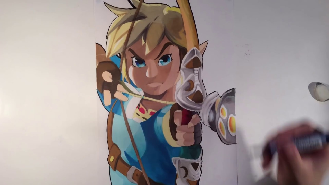 Speed Drawing Link From The Legend Of Zelda Breath Of The Wild
