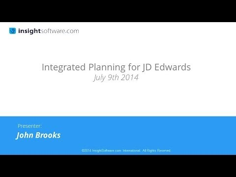 Integrated Planning for JD Edwards