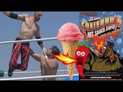 Ghost Peppers, Ice Cream Donuts & Pro Wrestling - The 4th Annual California Hot Sauce Expo