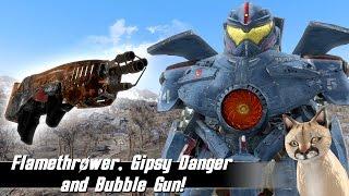 Fallout 4 Mods Week 32 - Flamethrower, Gipsy Danger and Bubble Gun!