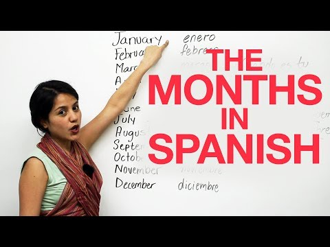 The months in Spanish