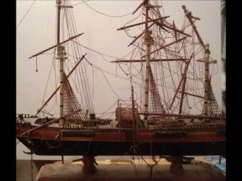 Restoration of the clipper ship model the Flying Cloud