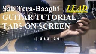 Video Sab Tera-Baaghi [Guitar Lead ALL ON 1st string tutorial] {TABS ON SCREEN+Slow motion} download MP3, 3GP, MP4, WEBM, AVI, FLV April 2018