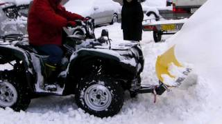 Repeat youtube video ATV MOOSE RM4  SNOW PLOW GRIZZLY スノープラウ 排土板 除雪機 バギー