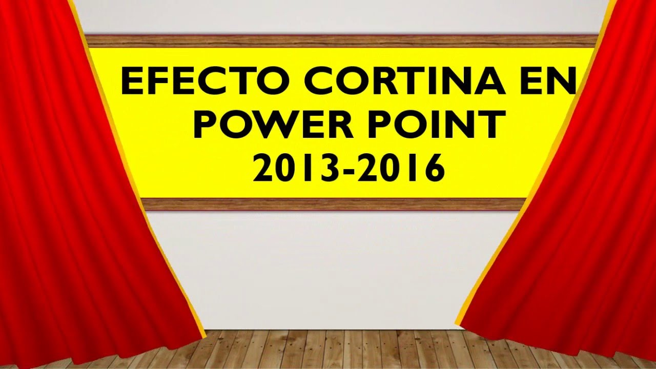 Efecto Cortina en Power Point/Curtain Effect in Power Point - YouTube