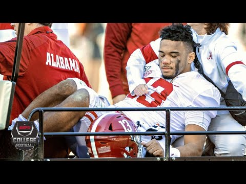 Tua Tagovailoa carted off with hip injury vs. Mississippi State | College Football Highlights