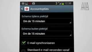 Instructie e-mail instellen op een Android toestel