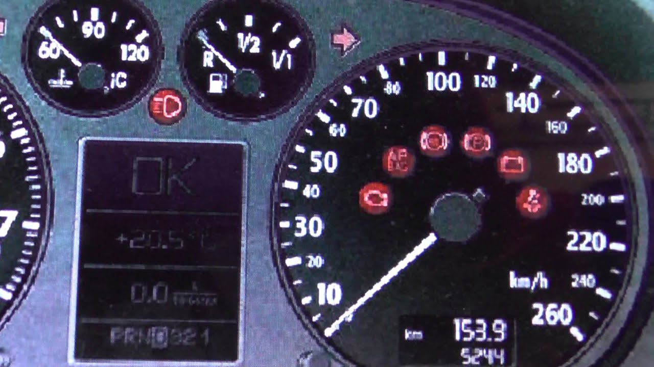 Audi A3 8p Dashboard Warning Lights Symbols What They Mean Here