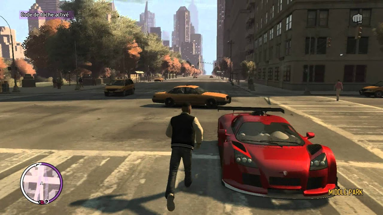code gta iv voiture de sport. Black Bedroom Furniture Sets. Home Design Ideas