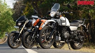RE Himalayan v KTM 200 Duke v Mahindra Mojo - Comparative Review