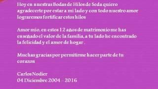 12vo Aniversario De Casado Las Bodas De Hilo 2021