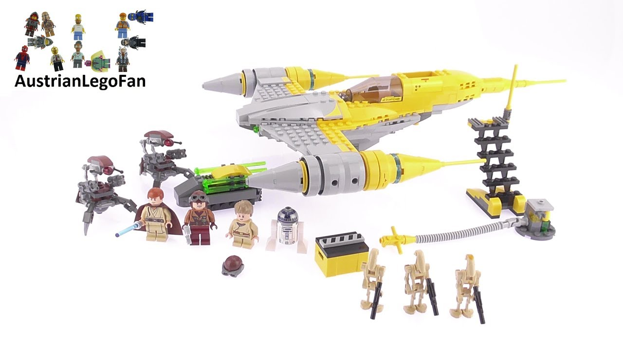 Lego Star Wars 75092 Naboo Starfighter Speed Build Review 75157 Captain Rexamp039s At Te