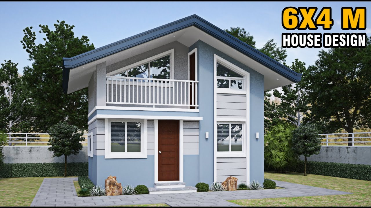 Download 6X4 METER HOUSE - SMALL HOUSE DESIGN - 24 SQM/258 SQFT.