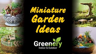 Miniature Garden Ideas A Tiny Garden House. Create a little fairy cabin to go in your garden with a bit of bark and an interesting container. ...Creating A Ladder.