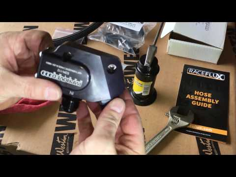 Making AN Hose Fittings for Engine Oil Cooler Install - Chevy Tahoe GM Trucks