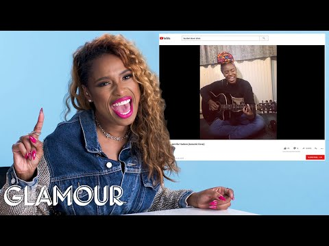 Jennifer Hudson Watches Fan Covers on YouTube | Glamour