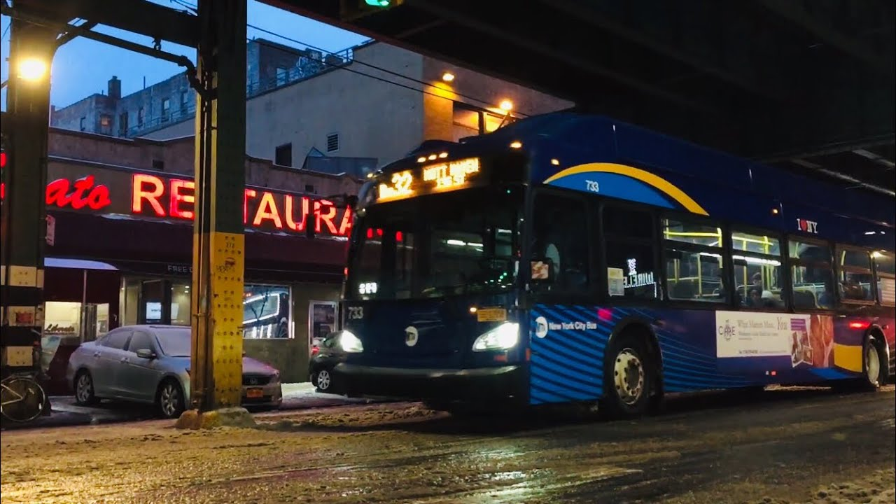 Mta Nyct Bus Bx32 Bus Action On Jerome Avenue 183rd Street Hd