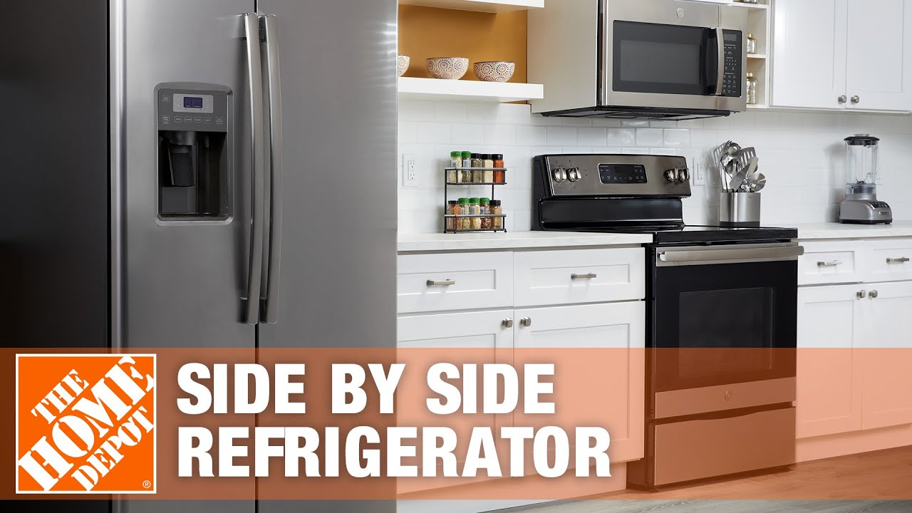 GE 25 3 Cu Ft Side by Side Refrigerator The Home Depot