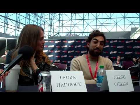 NYCC 2013  Da Vinci's Demons  Laura Haddock and Gregg Chillin