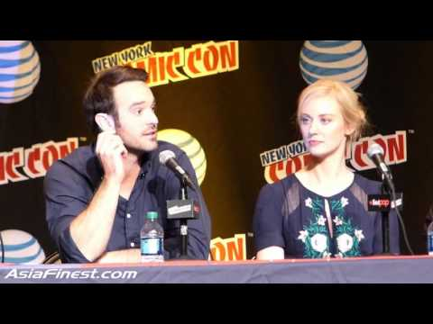 Charlie Cox being Blind as Matt Murdock & Cast of Daredevil on being stopped on Streets NYCC 2015