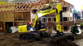 RC Construction Site Excavator Dozer Dumper Baustelle Bagger ♦ Feldtage Bocholt 2016