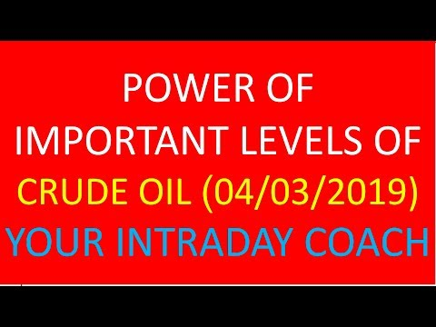POWER OF IMPORTANT LEVEL OF CRUDE OIL 04.03.2019