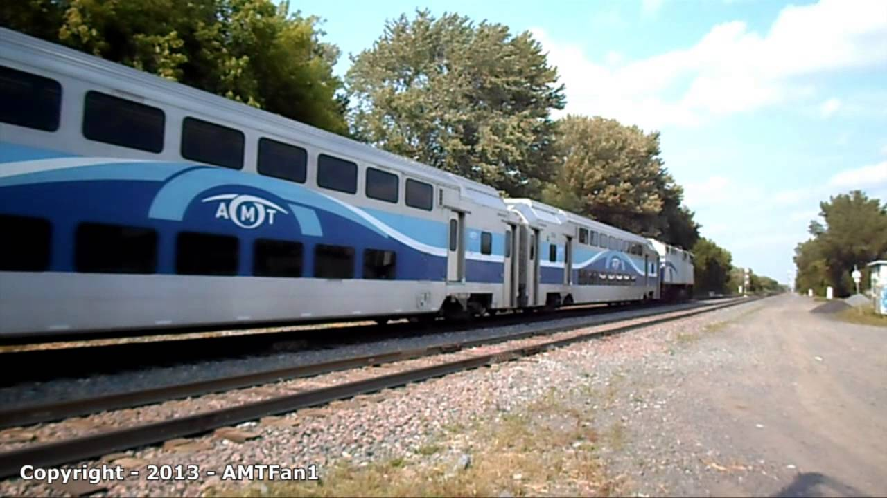 AMT Montreal commuter trains - August 2013 - YouTube