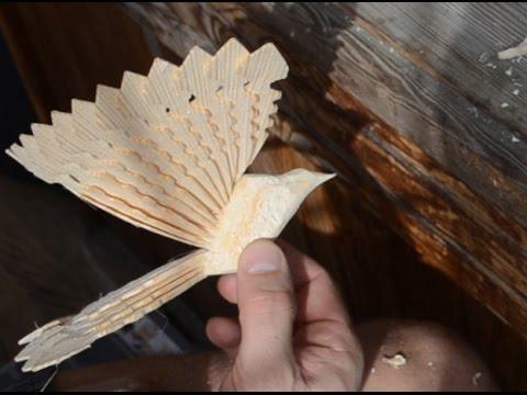 Птица счастья из дерева своими руками видео