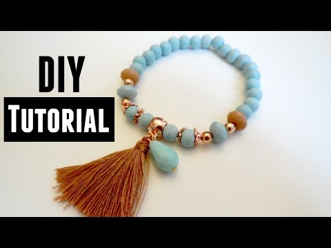 how to make an elastic bracelet jewelry making tutorials