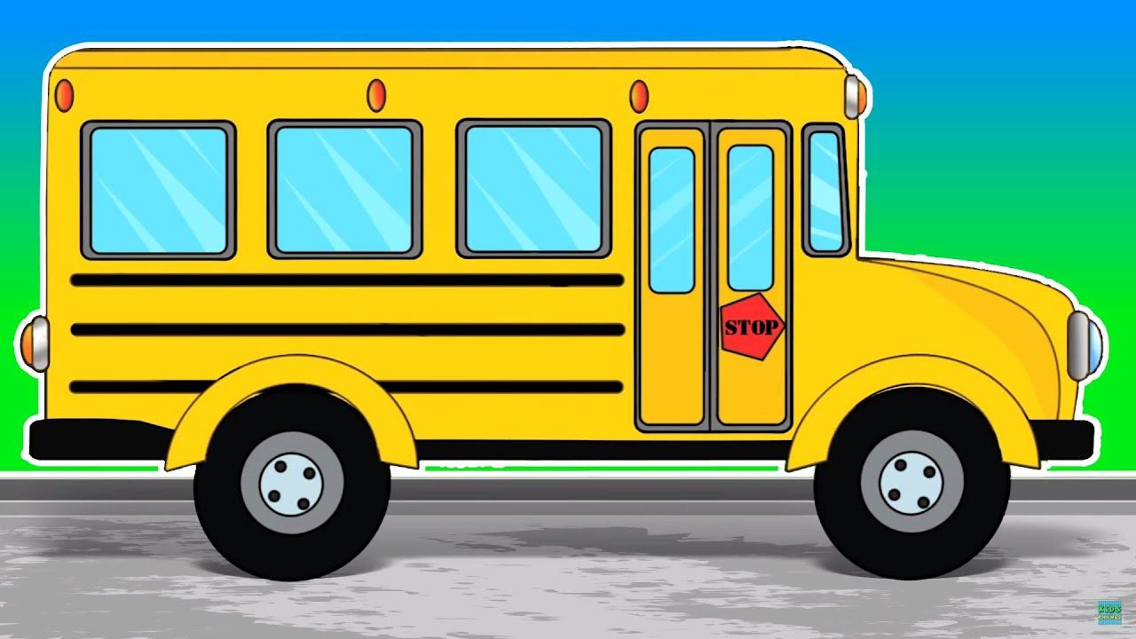 Onibus Escolar Lavagem De Carro Criancas Veiculo School Bus