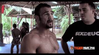 Phil Baroni trains @tigermuaythai for One Fighting Championship bout