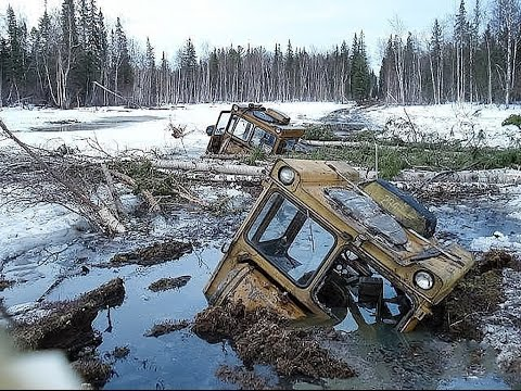 ТРАКТОРЫ БУЛЬДОЗЕРЫ ПО БЕЗДОРОЖЬЮ! ✅Уникальная подборка Гусеничные Тракторы Грязь