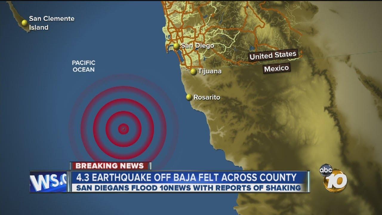 5.5 Magnitude Earthquake Felt in San Diego County