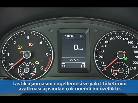 caddy'de lastik basınç uyarı sistemi nasıl çalışır? - youtube