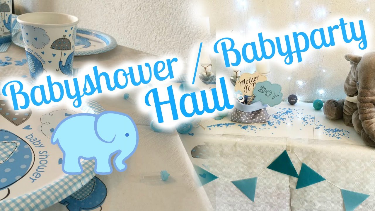 babyparty babyshower haul deko spiele vorbereitungen youtube. Black Bedroom Furniture Sets. Home Design Ideas
