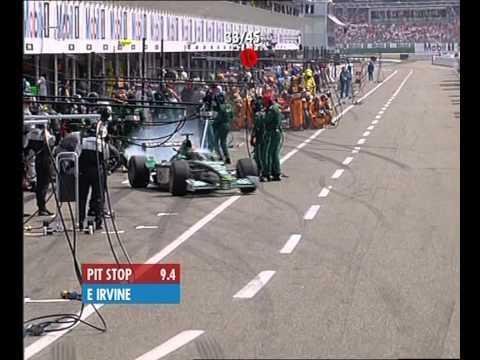 F1 German GP Hockenheim 2001 - Eddie Irvine Pit Stop