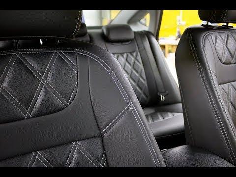 Модельные авточехлы на Hyundai I 40 премиум-класса компании Brothers Tuning