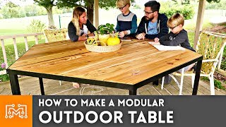 How to Make a Modular Outdoor Table