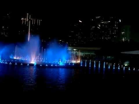 KLCC fountain show - Kuala Lumpur, Malaysia - HD