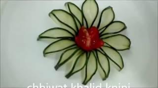 تزيين الاطباق  decoration des assiette