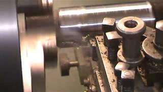 Colchester Lathe Cutting Steel Bar