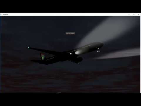 Flightgear-Night Flight from OR Tambo Int Airport(FAJS) to Lanseria Airport(FALA)