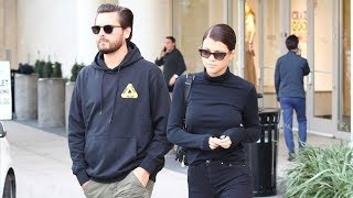 Scott Disick And New Brunette Sofia Richie Do Some Holiday Shopping